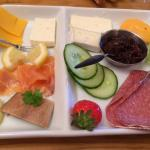 Orkney Continental Breakfast - includes toast, savoury biscuits, cereal, fruit and yogurt,