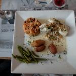 Cabillaud aux coques et salicornes