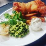 Home-made Fish & Chips at Stags Head, Lincoln