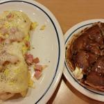 Ham & Swiss Omelette with Harvest Grain Pancakes