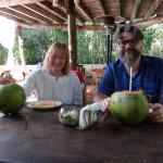 coconuts and fruitafter Temazcal