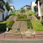 Escaliers en remontant de la plage.