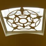 Tudor theme in the ceiling.