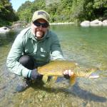 Personal best brown trout on a dry fly.
