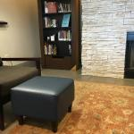 Reading nook in main lobby