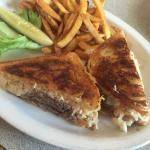 Reuben sandwich custom made with roast beef. Yummm