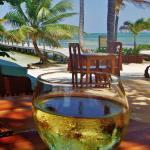 My glass of wine at Portofino Restaurant
