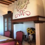 Wonderful Alpine-like murals and exposed beams throughout the hotel.