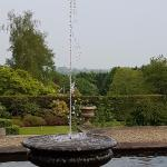 One of the 3 fountain water features