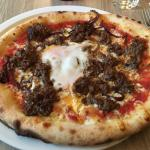 beef, egg, red onion
