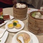 Roast items and a large dim sum menu