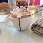 Amazing hot chocolate and sandwich !!!!!!! 😍😍