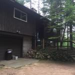 Red pine cabin and Lower Kaubashine Lake