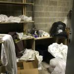 This is the linen/maintenance room at this motel. Filthy. Disgusting. They should be ashamed. Be