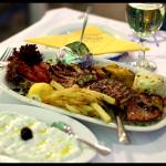 Grilled calamari and delicious tzatziki full of garlic!