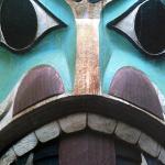 Chief Johnson Totem Pole Foto