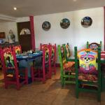 Colorful dinning area