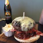 Need a flip-top head for this cheese and bacon burger at The Houmet Tavern.
