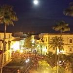 View from terrace during Semana Santa procession