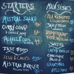 Mistral daily menu
