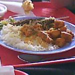 carry de marlin accompagne de riz et lentilles