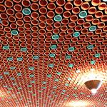 The ceiling in the bar at Vij's - covered in thousands of clay chai cups!