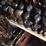 Wood carving at Lekki Markets