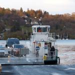 Ferry arriving from Bowness