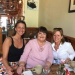 Angie Christie and friends at the Codfather Restaurant.