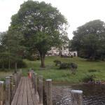 Scenic quiet terrace and gardens