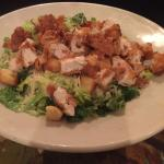 Caesar salad with crispy chicken