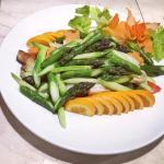 vegetarian dish with asparagus - order in adance ..Yummy