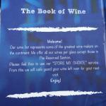 Wine List at Karambezi Cafe