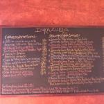 Inkazuela menu