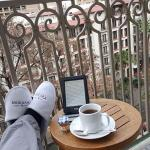 can't beat this..enjoying coffee & a good read on the balcony