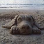 Sanjay sculpteur sur sable
