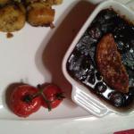 joue de bœuf, foie gras poêlé