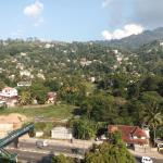 View of Kandy city from the restaurant seating area