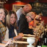 Picking wines at Van Till