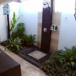 semi outdoor bathroom