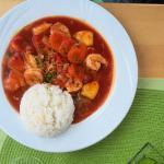 Reis mit Garnelen und Ananas (7,50 €)