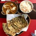 Awesome curry and naan
