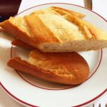 French bread - crispy crust with a soft center, perfect for dipping in their great sauce