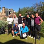 Our new Swedish golf group enjoying the sunshine before heading off to tackle the West Links !