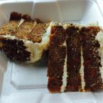 Carrot cake - to go. (So delicious)