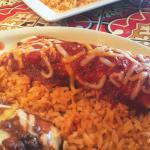 Carnitas burrito and tamale......