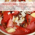 Banana Strawberry Fresh Fruit Smoothie Bowl