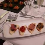 Gluten and gluten free canapes