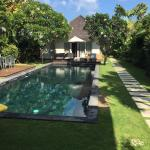 Pool with view of bedroom