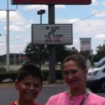We had lunch at Sonny's BBQ with our great niece and nephew Lauryn and Griffin and our Nephew Ga